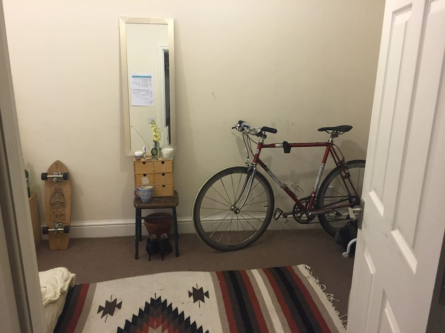 bicycle and skateboard included!