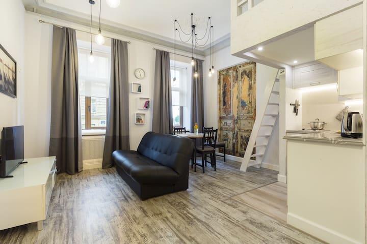 Лофт апартаменты на Петроградской набережной