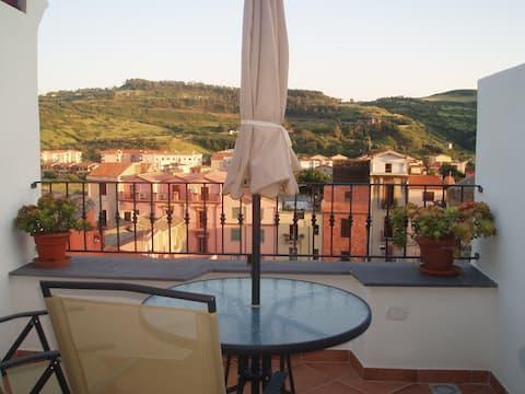 Beautiful Roof Terrace Apartment, Bosa  IUN P3190