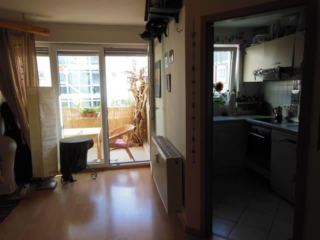 Helle, gemütliche 1-Zi. Wohnung in Vauban-Freiburg - Friburgo - Apartamento
