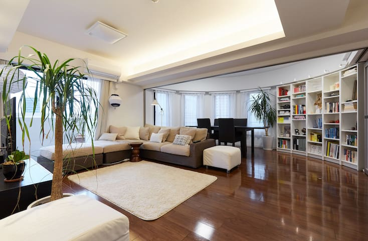 Central 80 m2 large, New & Clean on Yamanote Line - Minato-ku - Appartement
