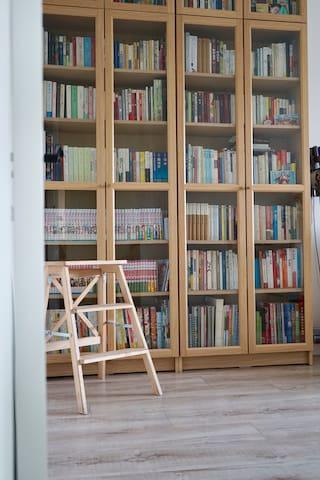 这是书房,也是当作客房的房间,书可免费阅读,读完归原位~