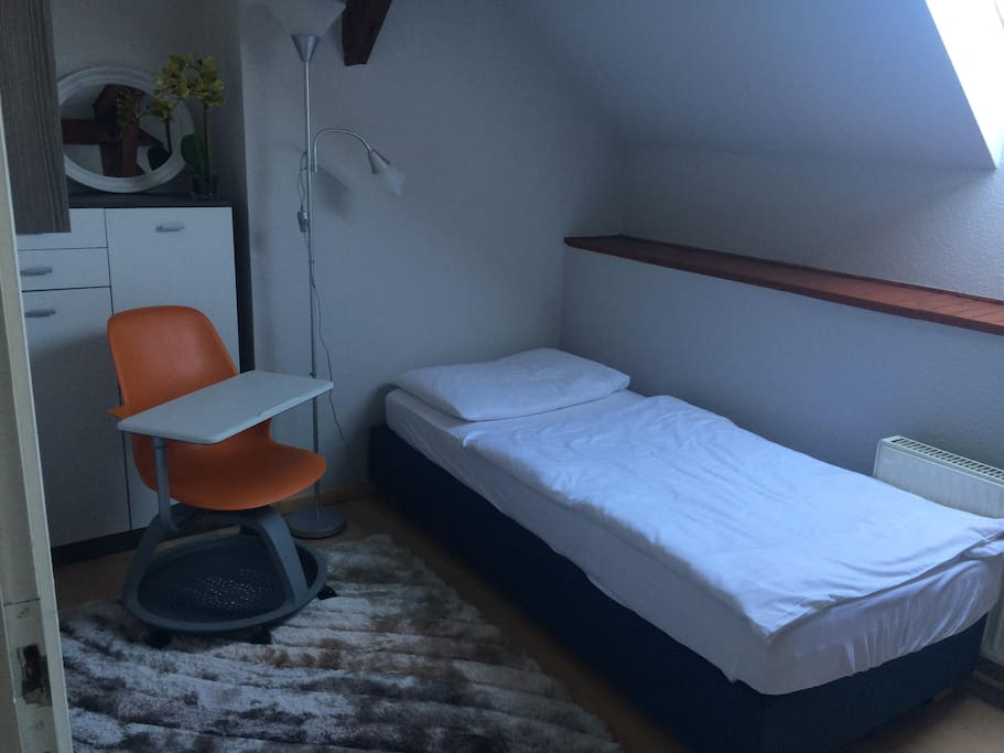 Room 1 with one single bed