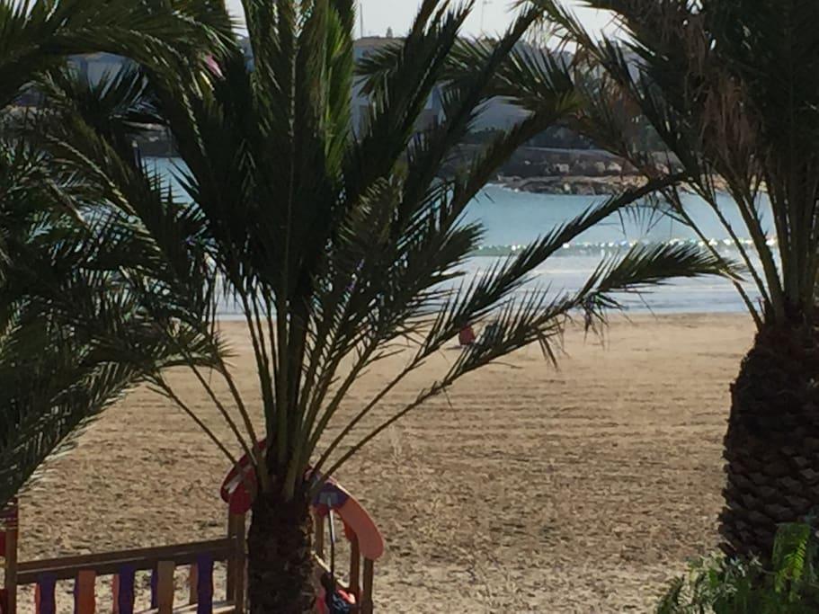 zona playa frente a la casa
