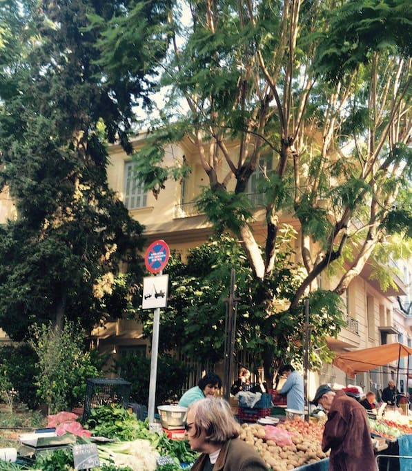 Beautiful exterior amidst greenery and the open market