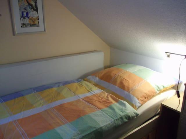 Einbettzimmer im OG mit zusätzlichem Schlafsessel