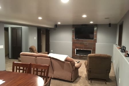 Newly finished basement - privacy and comfort - Sioux Falls - Casa