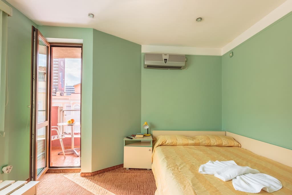 Guest room with balcony