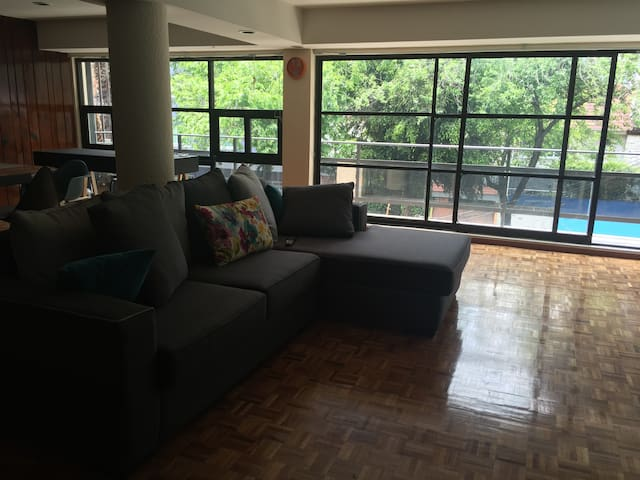 Beautiful room in a beautiful zone near Midtown - Ciudad de México - Appartement