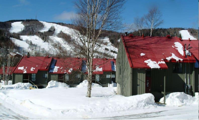 Condo de Ski à la station touristique Stoneham - Stoneham-et-Tewkesbury - スイス式シャレー