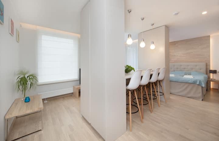 2, Smart serviced Studio w/balcony
