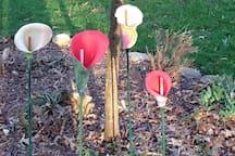 Ceramic flower garden