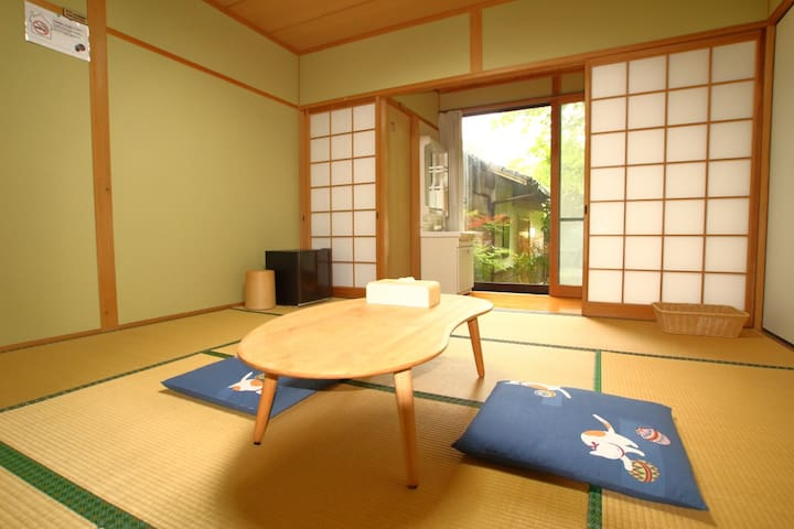 ☆Japanese-style room☆Free pick up『Hoshi no sato』
