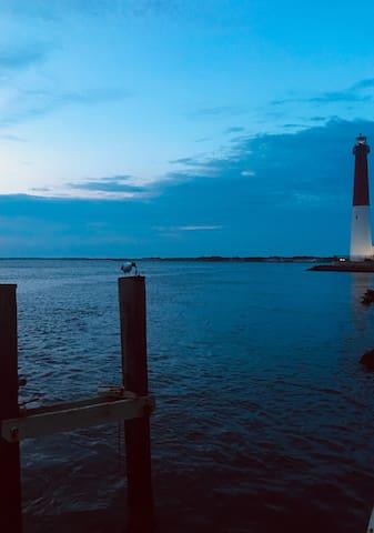 Barnegat Lighthouse at sunset