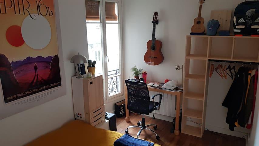 Chambre privée dans un charmant 60m² dans le 11ème