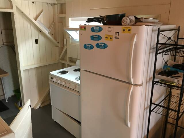 Kitchen.  Great dining options in Manasquan help keep this kitchen as a breakfast prep area