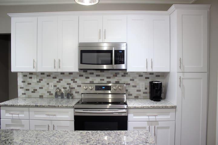 Samsung microwave & stove.