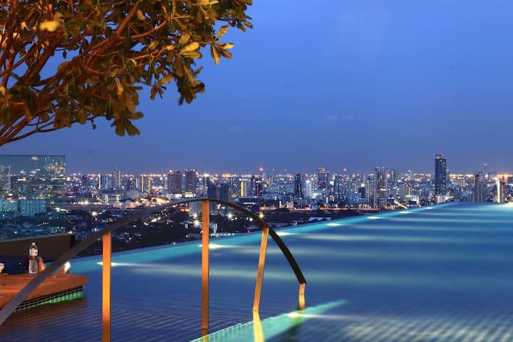 ④网红天空无边泳池+俯瞰曼谷一线夜景+大皇宫/考山路/indy小吃夜市/changchui飞机集市/