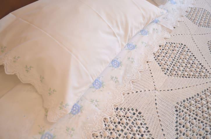 Pormenor da roupa de cama