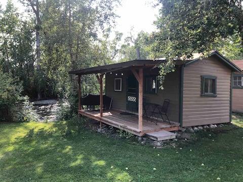 Rustic cabin on the West Boulder River