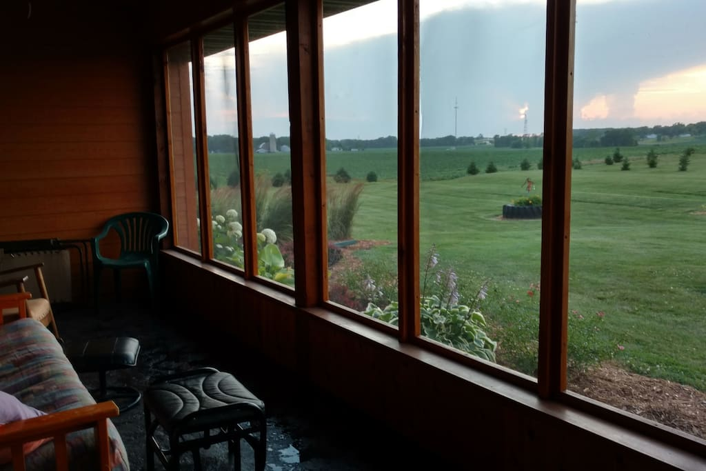 Screen in porch to watch amazing sunsets