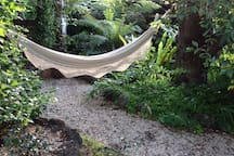 A hammock to relax in.