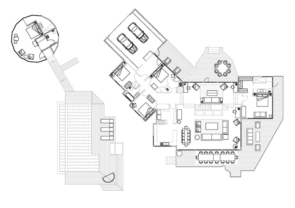 Floor plan of TheHouse & TheGuestHouse
