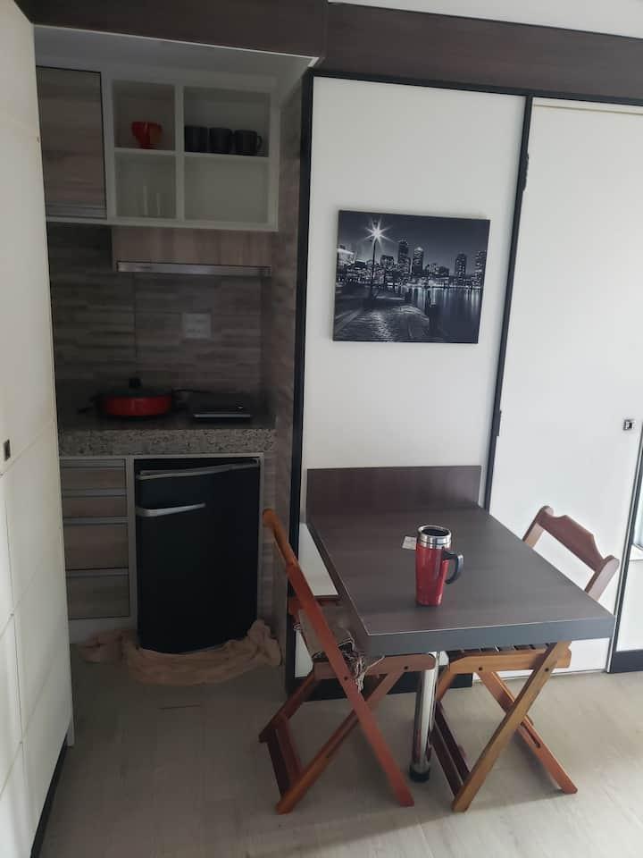 Mini Flats 5 cozinha, Wi-Fi e garagem