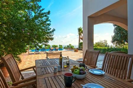 Two bedroom deluxe pool villa with sea view(V2) - Agios Nikolaos - Villa