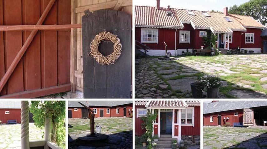 Charmig 1800-talsgård strax norr om Varberg