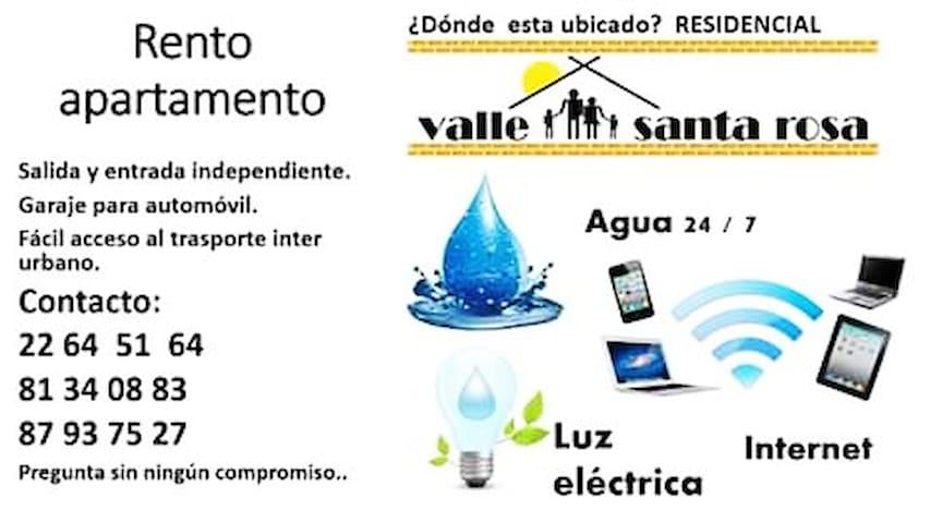 Rento Apartamento Valle Santa Rosa, Ciudad Sandino