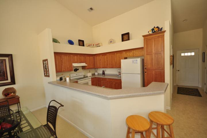 Kitchen fully equipped with all appliances