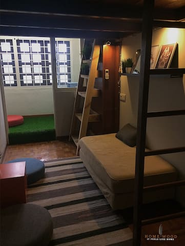 Kids dream bunk bedroom. A good place just to relax or have a good round of board games together.