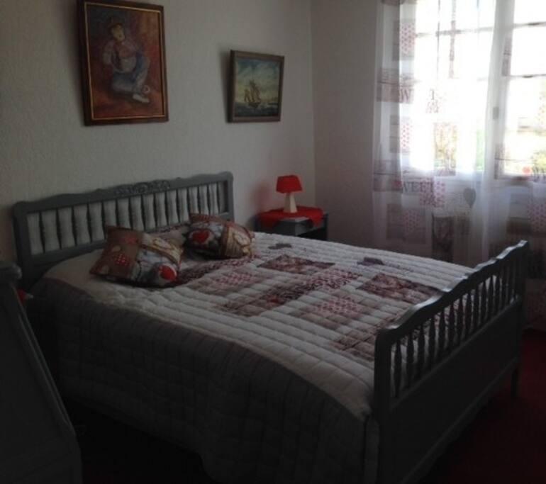 Chambre 1 avec lit double, TV