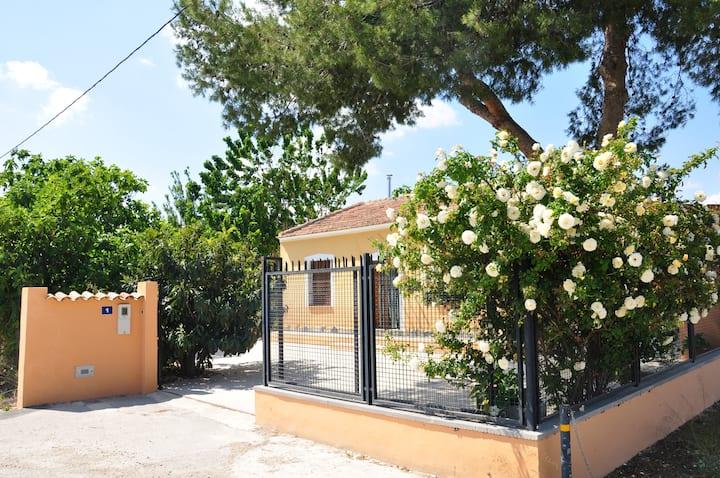 Entre naranjos-limones.Acogedora casa 1km Orihuela