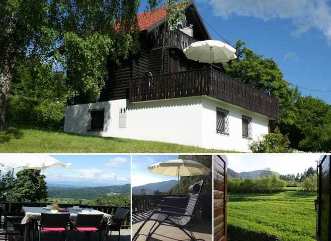 Traditional alpine chalet with stunning views - Brezje nad Kamnikom - Huis