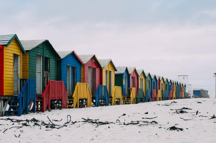 The colourful houses of False Bay