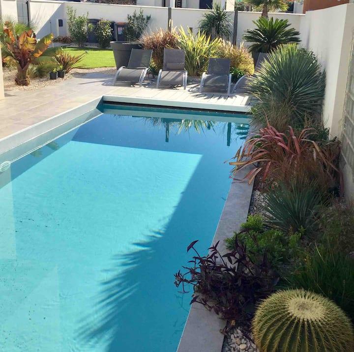 Belle villa contemporaine 5 mn mer et Montpellier