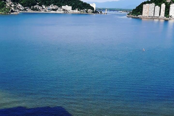 Melhor vista para o mar de São Vicente.