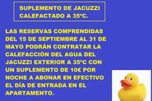 SUPLEMENTO CLIMATIZACIÓN JACUZZI