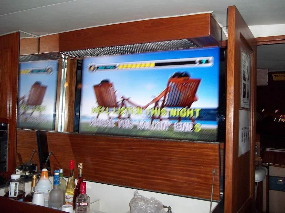 """52"""" tv in main salon"""