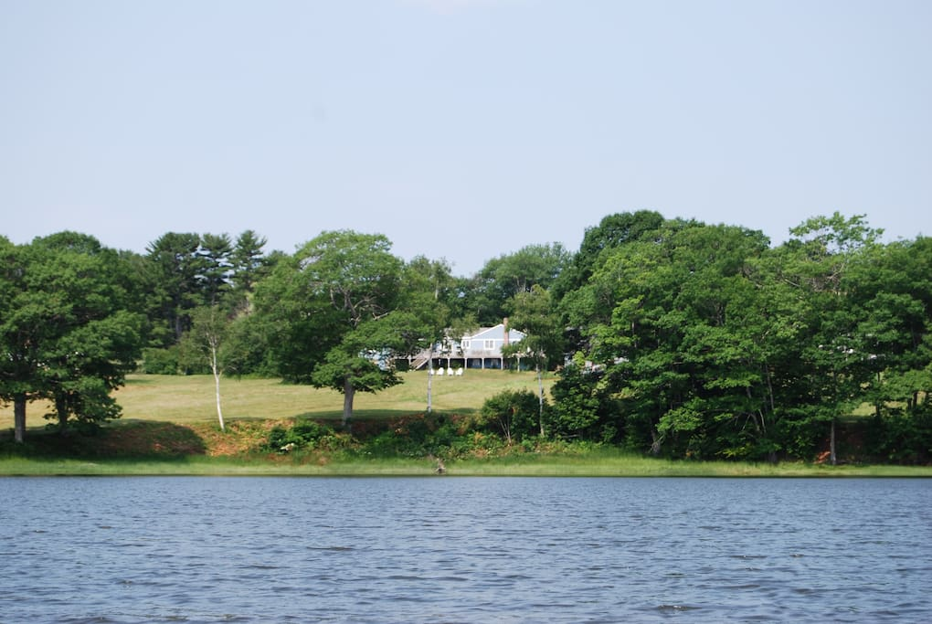 View of property from the water