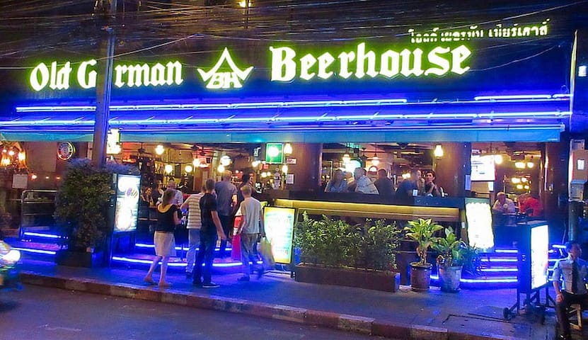 The biggest German restaurant and beer house is also in the complex