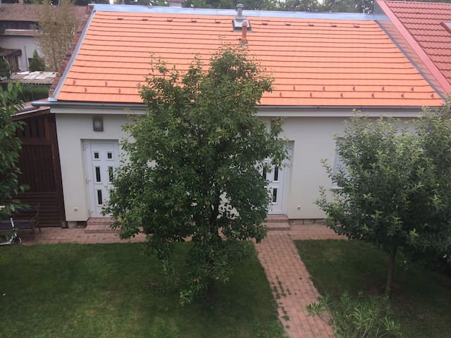 House with garden at the River Danube