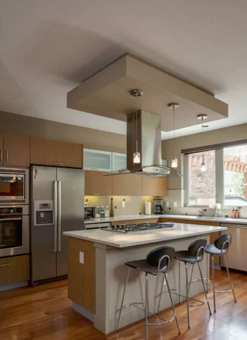 Kitchen includes: Stove, Oven, Micro, Toaster Oven, Coffee Maker etc.