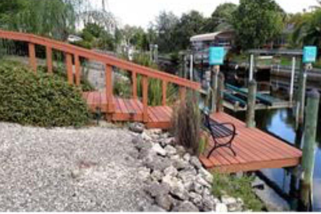 Backyard and dock.