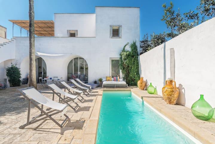 Casa salentina con piscina a SPA vicino Otranto