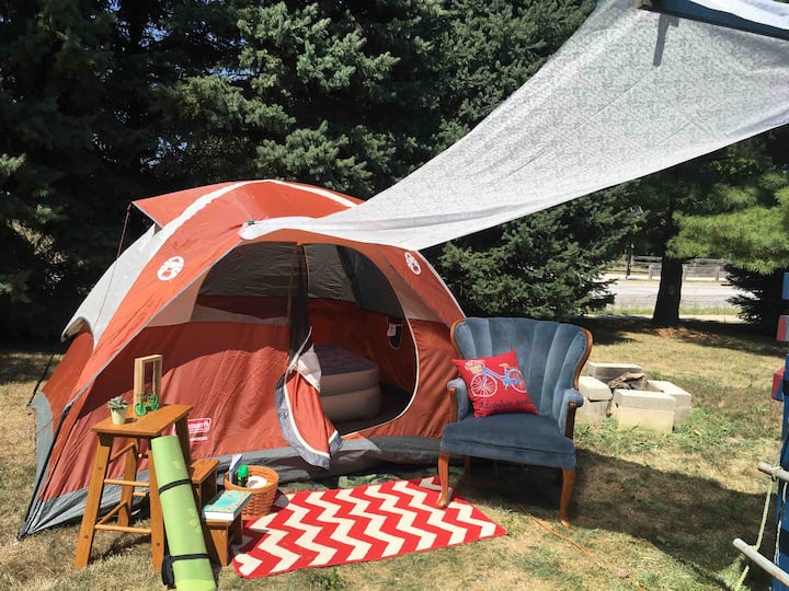 *Glamping* in nature & 5min bikeride 2 Purdue. 轻露营