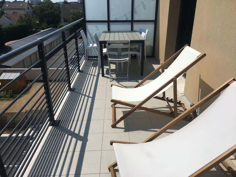 Terrasse chambres