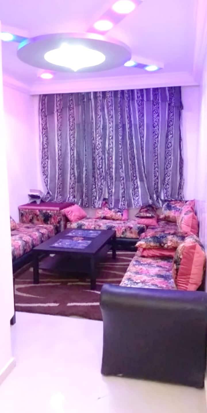 Apartamento de una habitación en Mohammédia, con magnificas vistas de la ciudad, piscina compartida, jardín cerrado